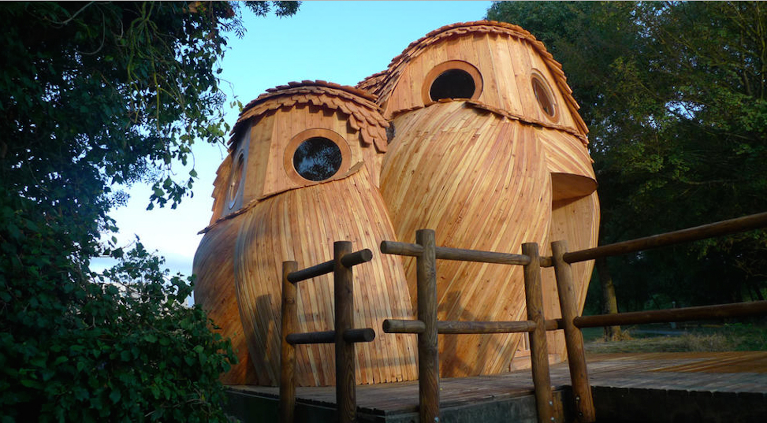 Adorable owl cabins let you camp inside for free and off the grid in France
