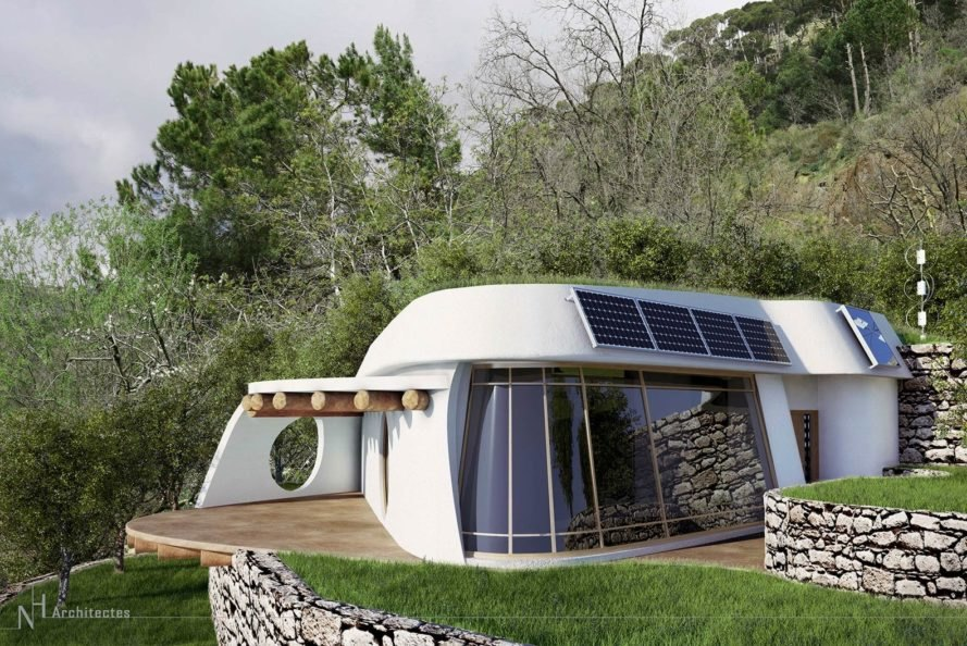 Amazing low cost off grid lifehaus homes are made from for Cost of materials to build a home