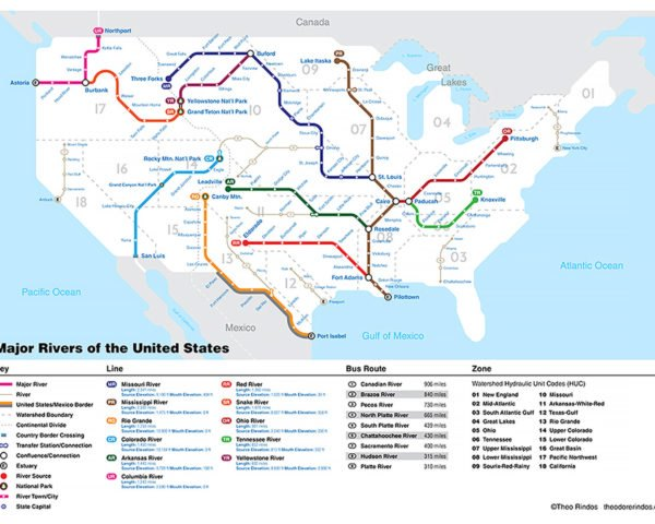 New Subway Style Map Shows How Us Rivers Connect Cities And