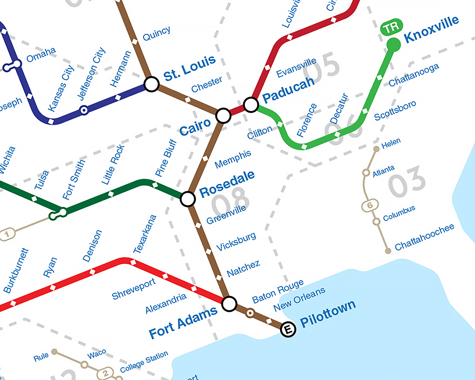 New subway-style map shows how US rivers connect cities and ...
