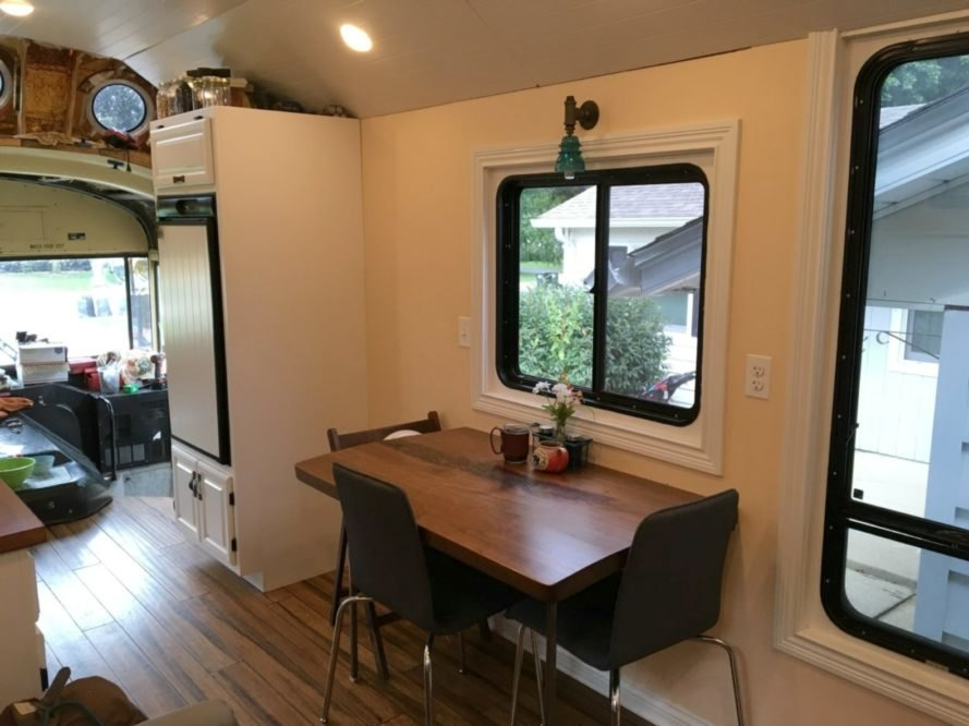 Midwest Wanderers, Living Big In A Tiny House, Bus Conversion, Bus House,