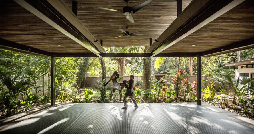 Nalu Hotel, eco-resort, Costa Rica, Studio Saxe, pavilion, recycled teak, yoga resort, yoga, green architecture, recycled building materials, pergola, sustainable hotel