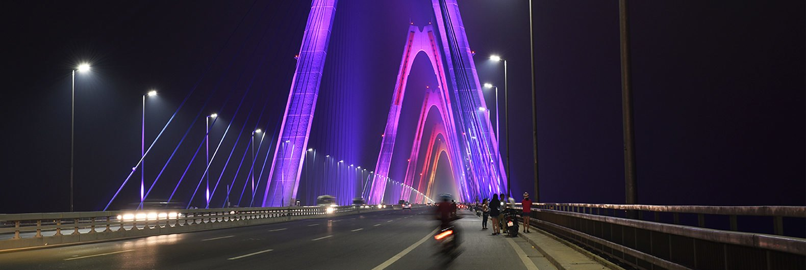 Vietnams longest cable stayed bridge lights up with 167 million vietnams longest cable stayed bridge lights up with 167 million colors biocorpaavc