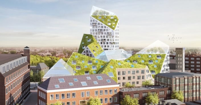 Eindhoven unveils plans for a solar-powered city block with living roofs and urban farms