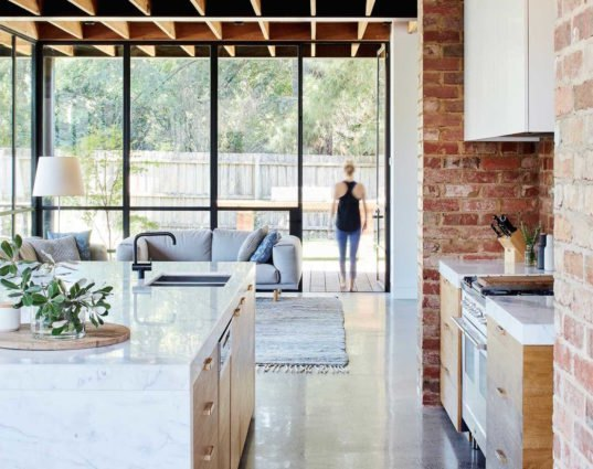 Gorgeous modern home makes stunning use of recycled and for Salvaged building materials los angeles