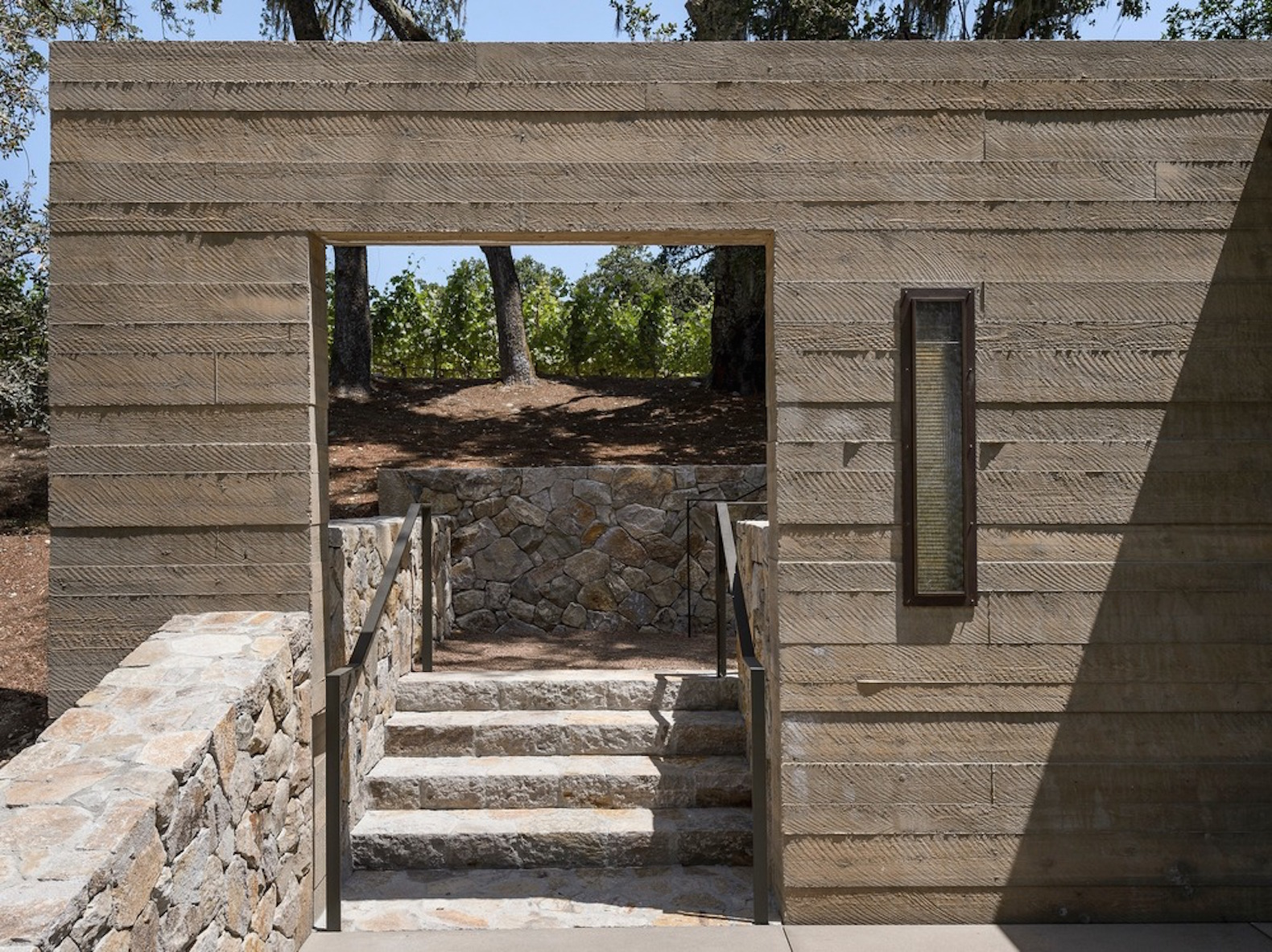 Quintessa Pavilions by Walker Warner Architects, Quintessa Estate Winery, winery pavilions Napa Valley, winery pavilion architecture, winery pavilions by Walker Warner Architects, AIA SF citation awards 2017, Napa Valley minimalist architecture, sustainable architecture Napa Valley