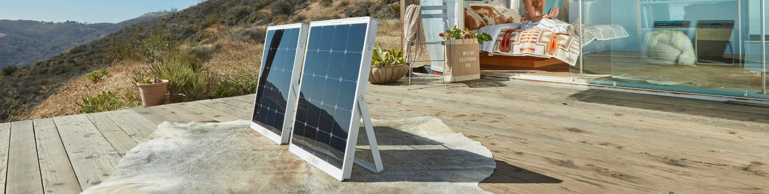 New solar panels with built-in batteries make off-grid living easy