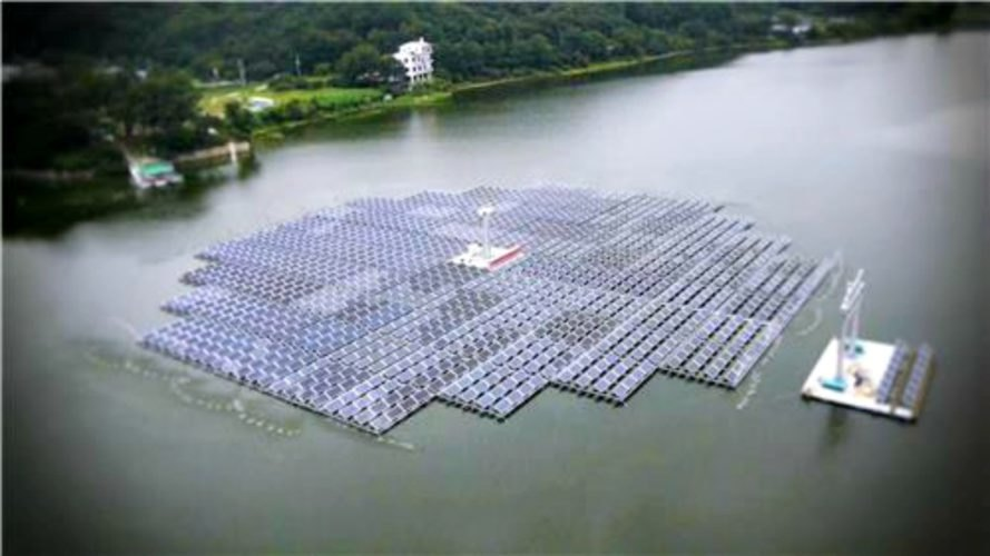 Solar Power, Floating Solar Array, Solkiss, South Korea, renewable energy, clean energy,