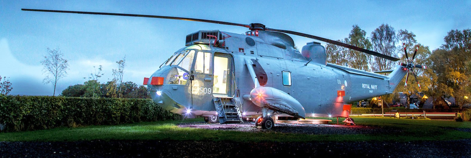 Royal Navy Helicopter Transformed Into An Amazing Hotel Room In Scotland