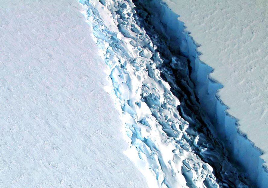 iceberg, Larsen C, Antarctica, Midas Project, natural phenomenon, science, nature