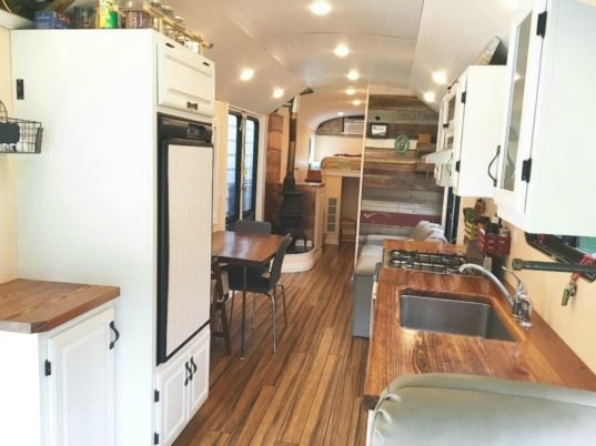 This Off Grid School Bus Home Has An Incredible Raised