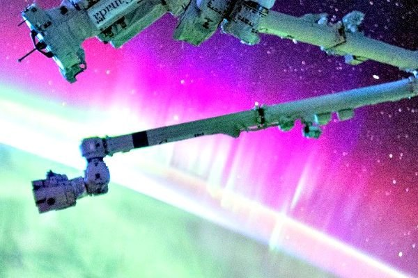 Aurora Borealis, NASA, International Space Station, ISS, Northern Light Show, space, Earth,
