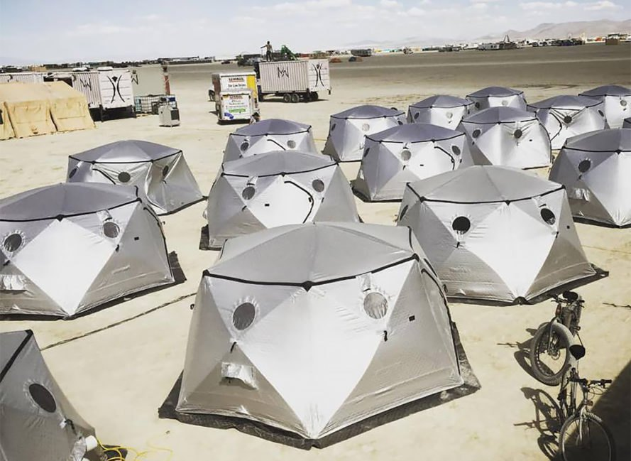 Advanced Shelter Systems, Advanced Shelter Systems Inc., ASSI, Shiftpod, Shiftpod by Advanced Shelter Systems, Shiftpods, hexayurt, hexayurts, shelter, shelters, Christian Weber, Burning Man, festival, festivals, refugee, refugees, refugee housing, design