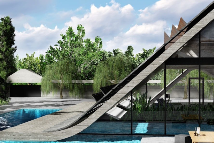 Alavi House by BMDesign Studios, Alavi House in Iran, Tesla solar cells architecture, Tesla solar roof on homes, Tesla solar roof design, double skin solar roof, Isfahan sustainable architecture, Iran sustainable architecture