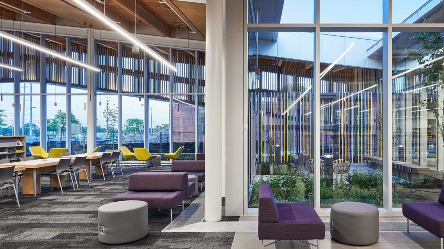 Green Roofed Albion Library In Toronto Feels Like An