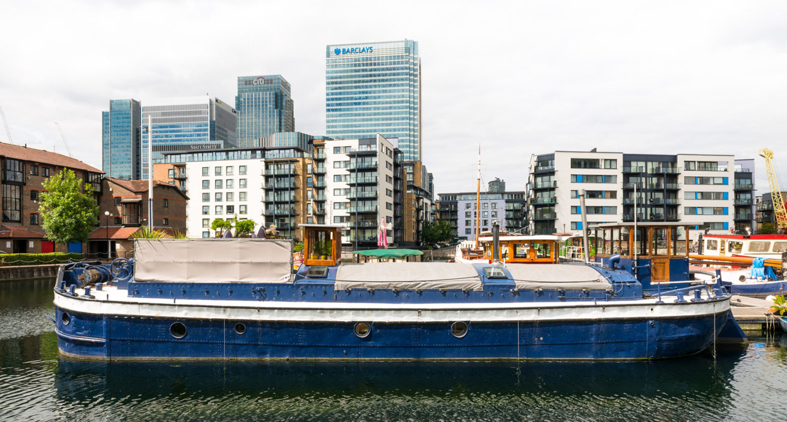 Coal Barge In London Converted Into A Sophisticated