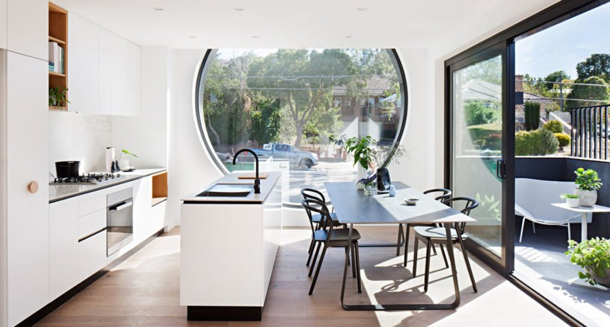 Cirqua Apartments, BKK Architects, apartment block, round windows, Melbourne, green architecture, natural light