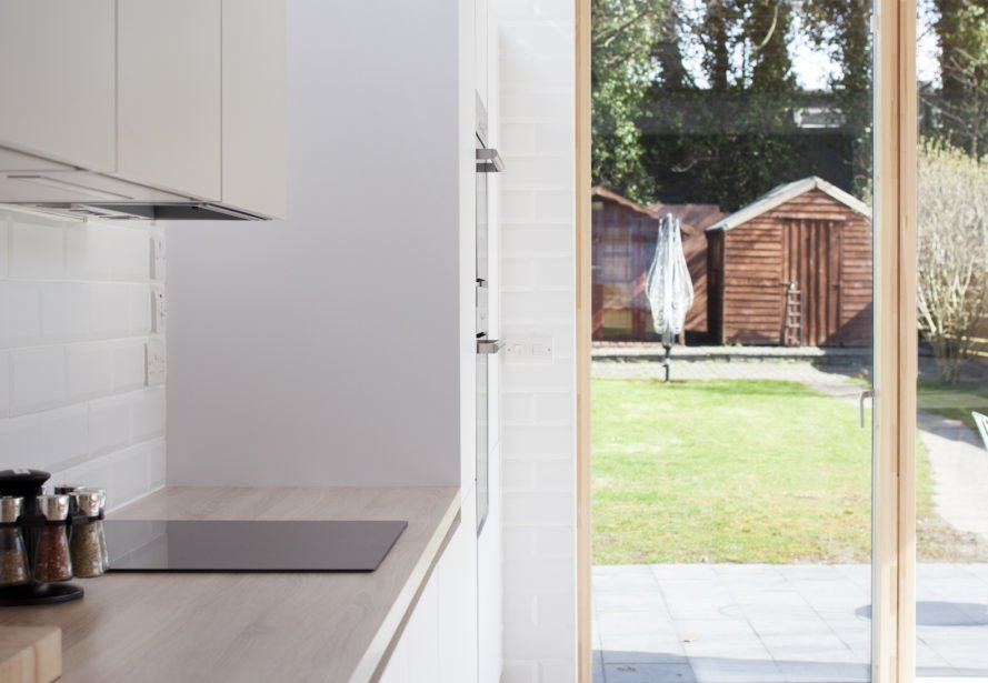 Copeland Grove by Stephen Kavanagh Architects, charred timber house extension, modern house extension, Copeland Grove in Dublin, timber and glass house box,