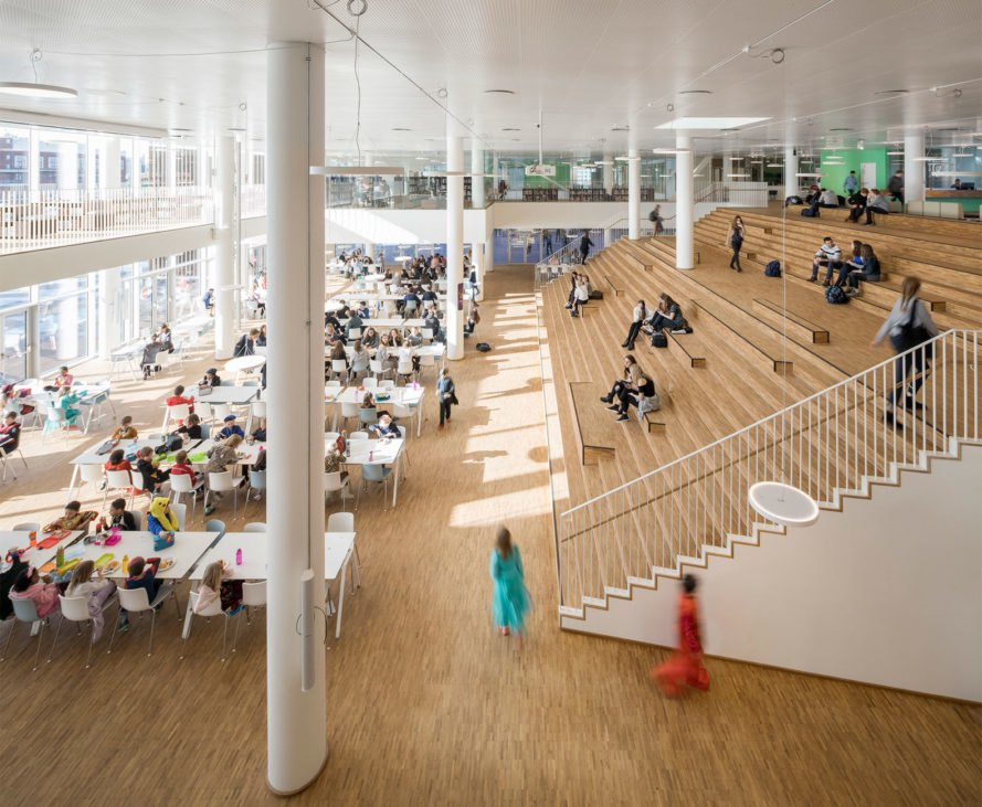 c.f. moller, danish architecture, Copenhagen International School's Nordhavn, solar panels, solar energy, solar panels school, solar-powered schools, schools in denmark, danish architecture, renewable energy, urban design, solar panel facades, green solar panels, light reflecting solar panels, solar energy technology
