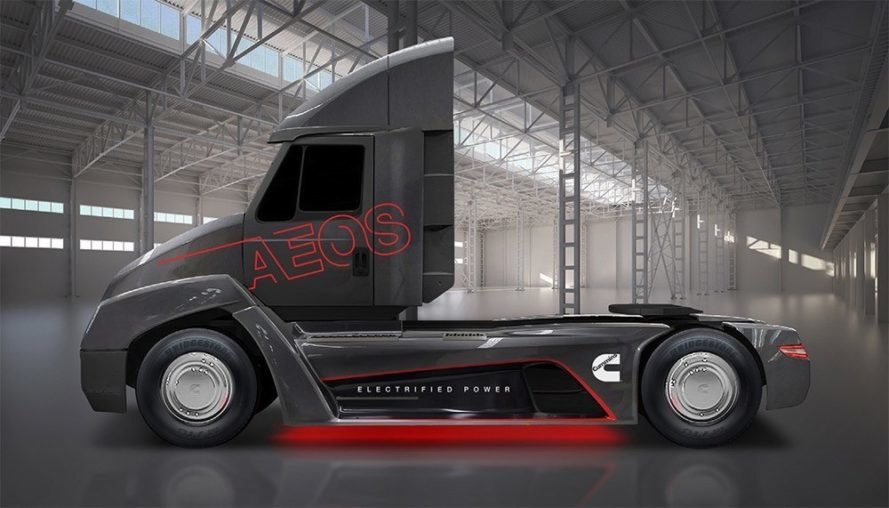 Cummins Beats Tesla With A Fully Electric Semi Truck Inhabitat Green Design Innovation