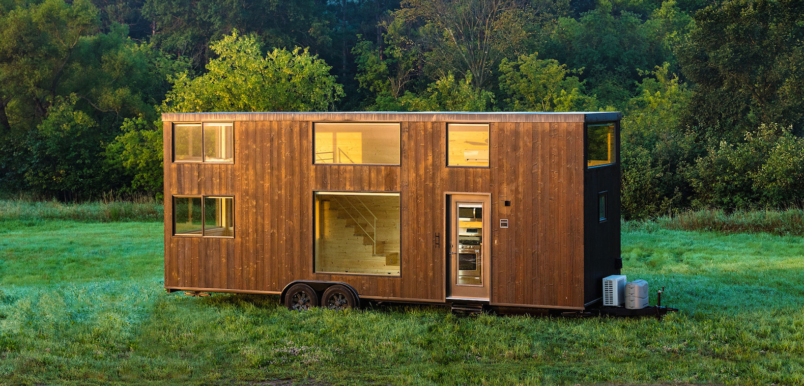 Timber cabin on wheels lets you hit the open road in luxurious comfort