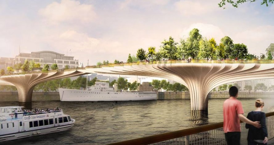 Thomas Heatherwick, Garden Bridge, green bridge, London, River Thames, green infrastructure, green architecture