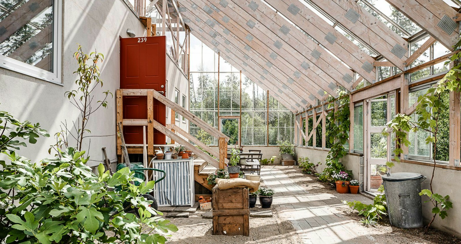 Gorgeous solar-powered greenhouse home in Sweden hits the market
