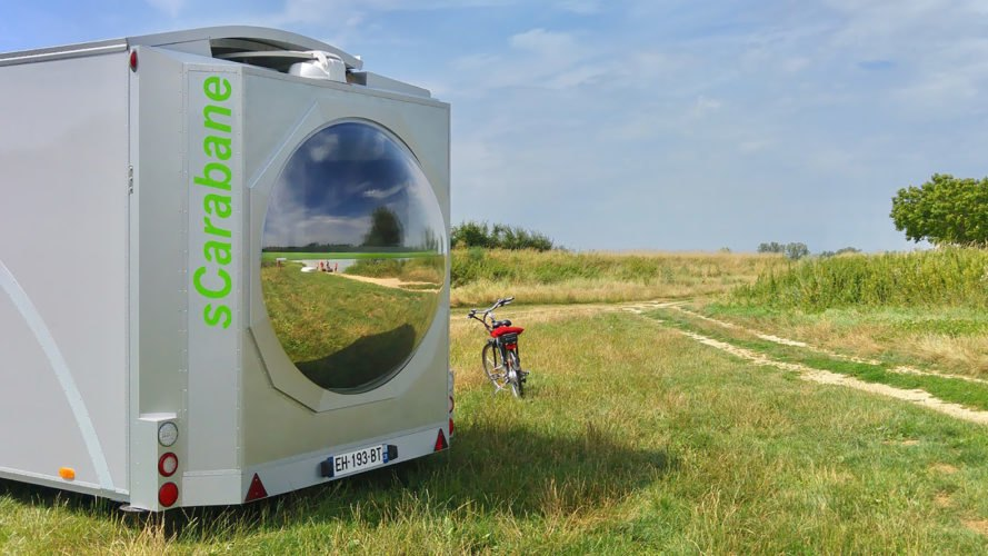 Green Cat Technologies, sCarabane, sCarabane by Green Cat Technologies, caravan, caravans, rotate, rotating, folding, foldable, clean technology, renewable technology, renewable energy, clean energy, solar power, solar energy, solar concentrator, wind power, wind energy, wind turbine