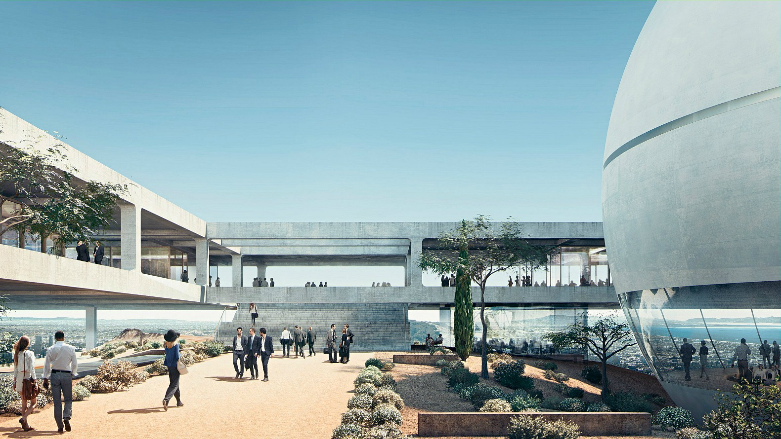 Herzog de meuron unveil monastery inspired campus for for Los angeles architecture