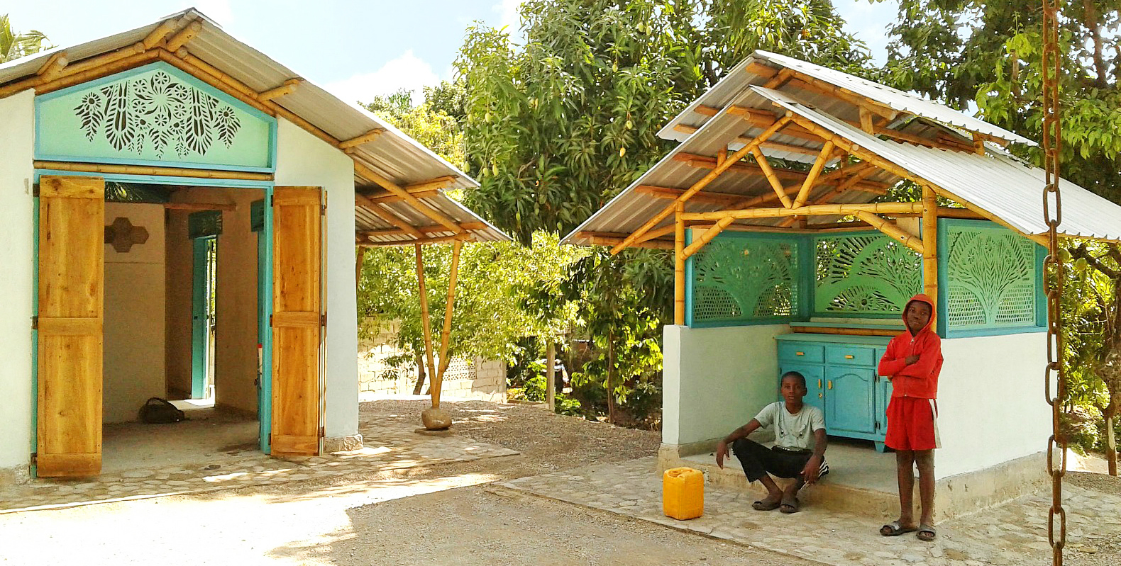 Sustainable Konbit shelter replaces home destroyed by Haiti earthquake