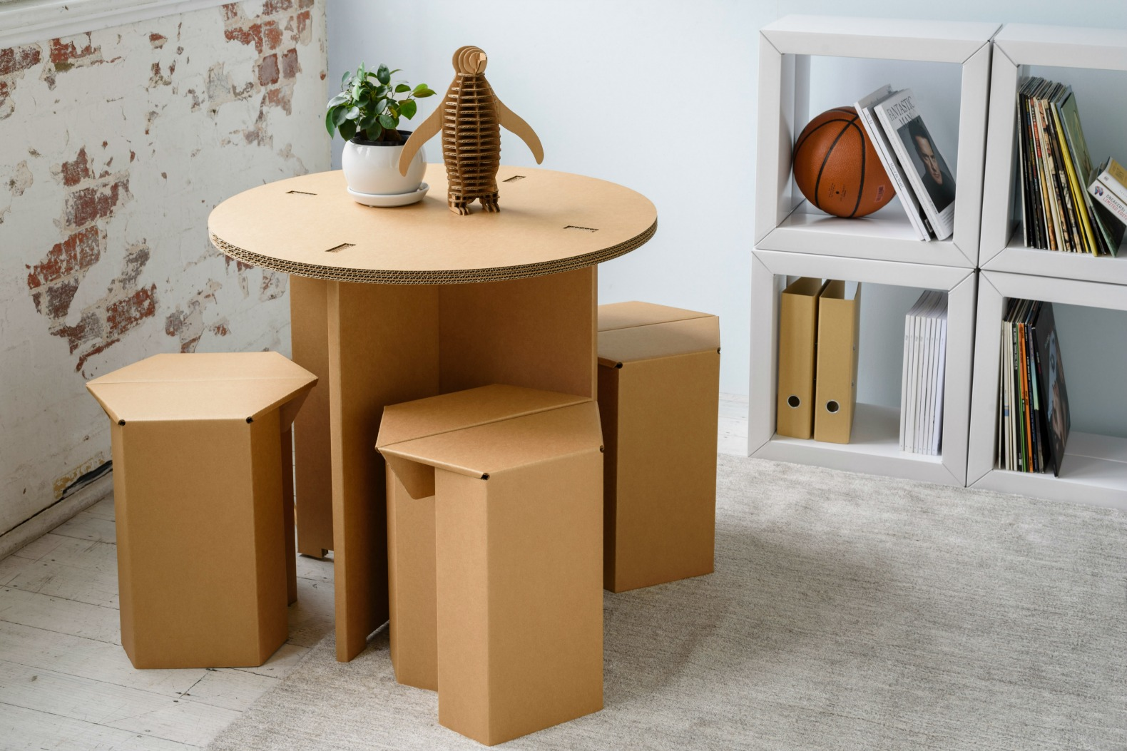 Karton Creates Ultra-durable Cardboard Furniture For Every Room In Your Home