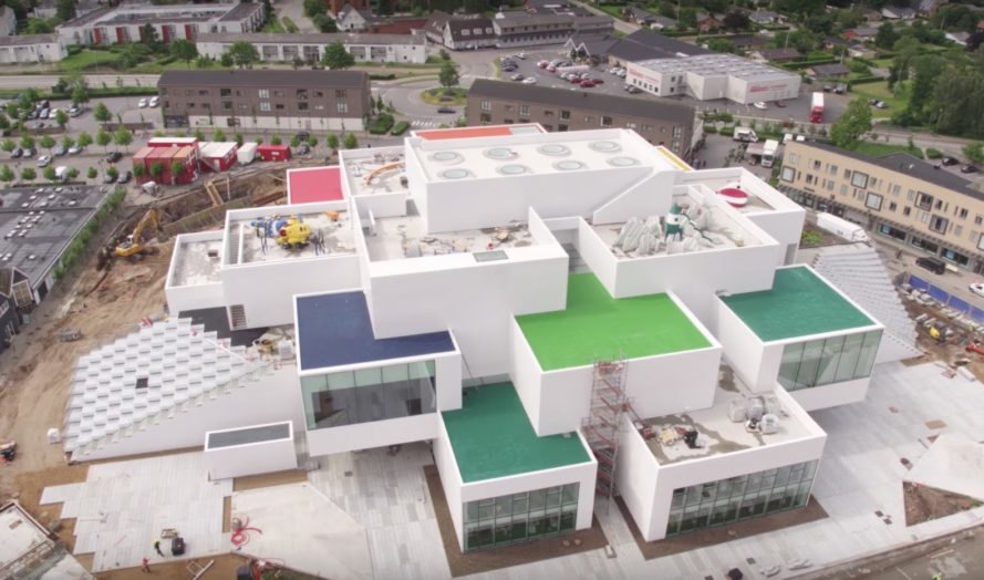 Drone Video Offers Sneak Peek At Big S Lego House Set To