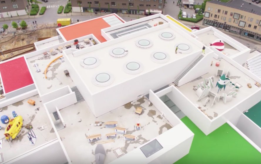 LEGO House by BIG, LEGo house drone video, LEGO tree of creativity, LEGO museum, LEGO House opening day, LEGO House in Billund,