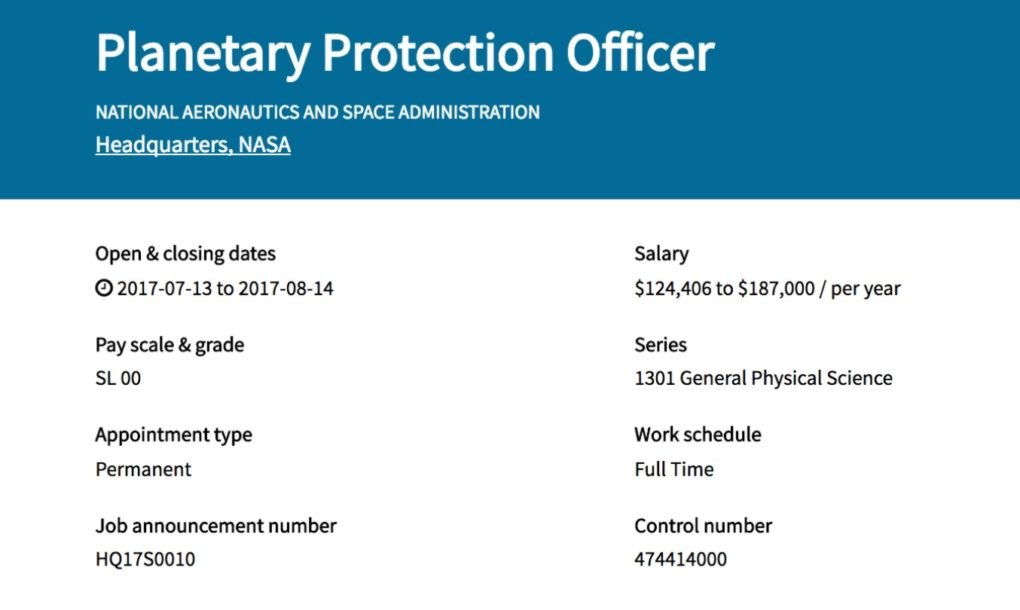 NASA is hiring a 'Planetary Protection Officer' - and the ...