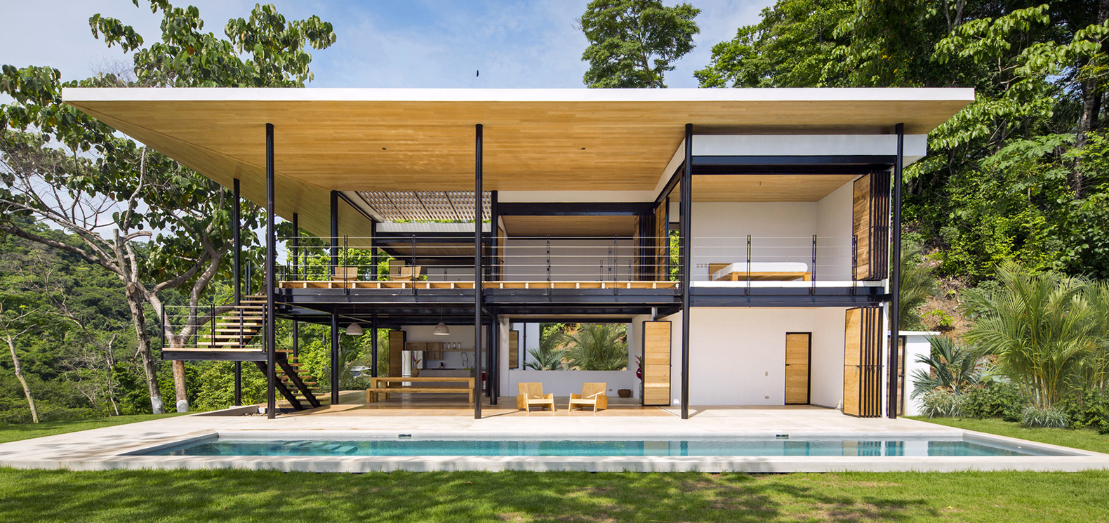 Airy Costa Rica home enjoys incredible views of the ocean and jungle