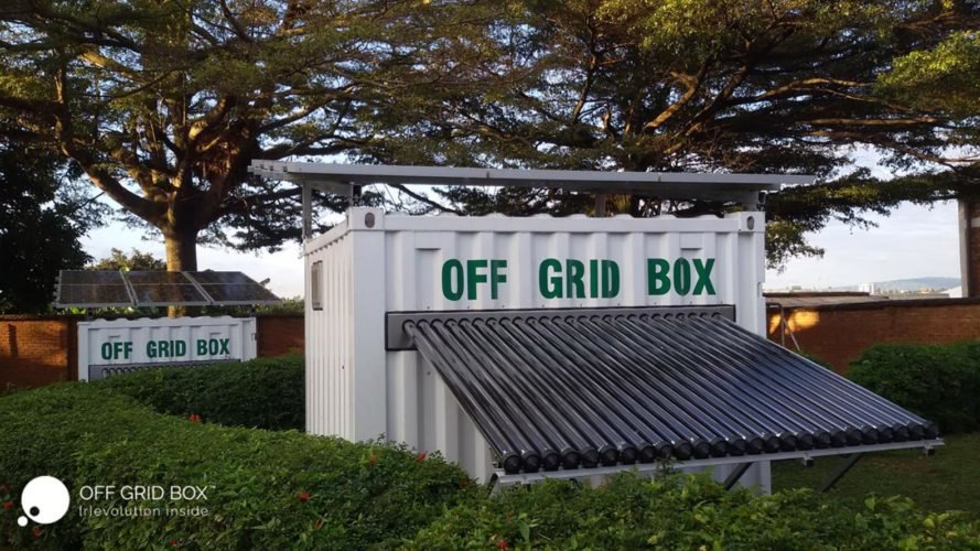 OffGridBox, container with water and power, off grid water and electricity, OffGridBox locations, off grid container box, off grid water, offgrid power