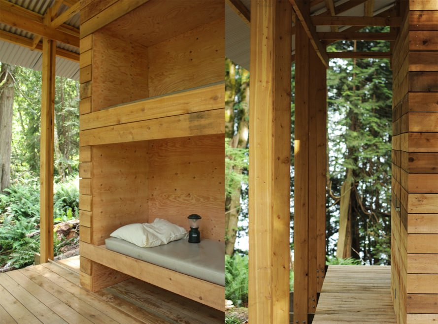 Salamander by University of British Columbia, University of British Columbia SALA, SALA design build, UBC design build, Gambier Island cabins, Gambier Island architecture, design build student architecture projects, Camp Fircom architecture,
