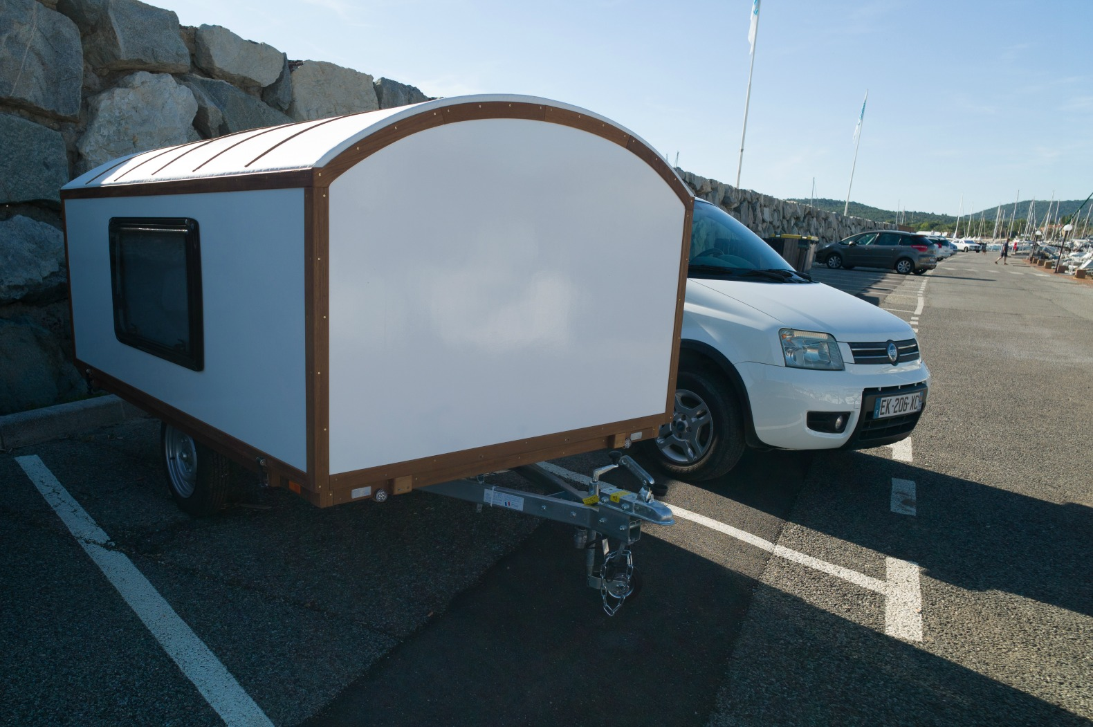 this mini caravan with a telescopic roof is the stuff of. Black Bedroom Furniture Sets. Home Design Ideas