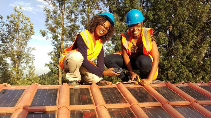 Strauss Energy, Gaitheri Secondary School, Kenya, building-integrated photovoltaics, solar roof tile, solar roof tiles, roof tile, roof tiles, photovoltaics, solar, solar power, solar energy, rooftop solar, renewable energy, energy