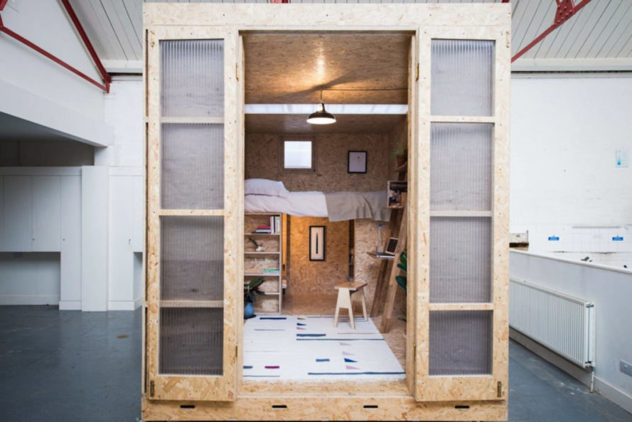 The SHED Project by Studio Bark, The Shed Project by Lowe Guardians, Shed Project modular U-Build, U-Build Modules, Shed Project affordable housing, Shed Project London, UK housing crisis architecture solutions, mobile micro homes London,