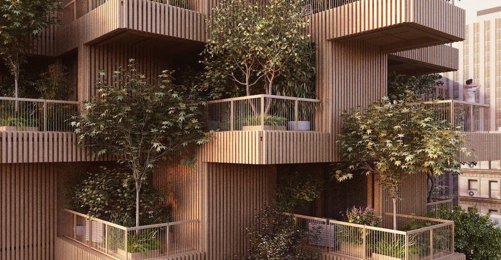 Trees To Grow On The Balconies Of Penda S Timber High Rise