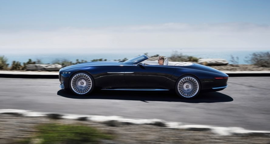 Vision Mercedes-Maybach 6 Cabriolet, Mercedes-Benz, Mercedes, Maybach, Pebble Beach, 2017 Pebble Beach Concours d'Elegance, electric car, green car, electric motor, automotive, green car, green transportation