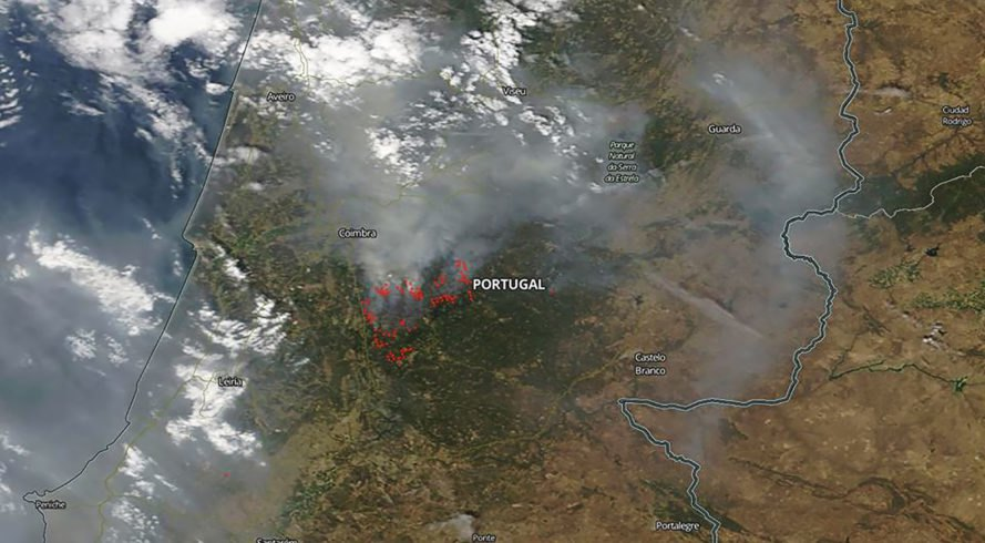 NASA, FIRMS, Fire Information for Resource Management System, FIRMS Web Fire Mapper, Web Fire Mapper, map, maps, data, fire, fires, wildfire, wildfires, smoke, Portugal, Earth, climate change, heat, environment