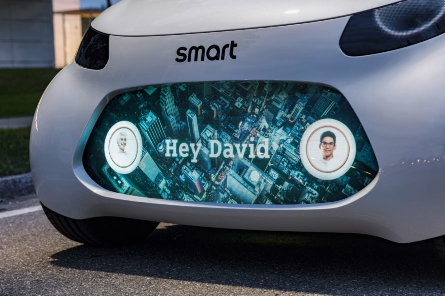 smart, smart fortwo, smart vision EQ fortwo, 2017 frankfurt motor show, car sharing, autonomous car, green car, electric car, uber, lyft, electric motor