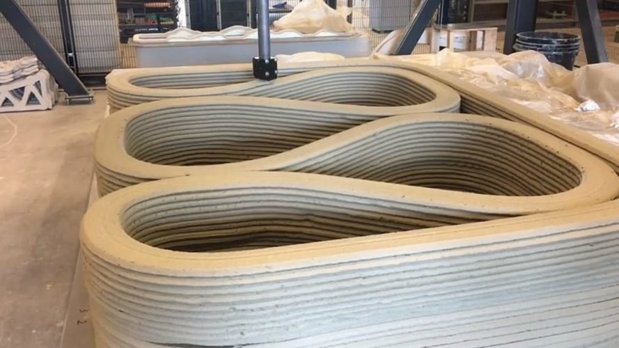 3d-printed bridge, Gemert bridge, BAM Infra, Gemert cycling bridge, 3d printed bike path, german bridges, urban design, 3d printing, TU Eindhoven, BAM technology, Eindhoven Technical University, Eindhoven 3d bridge,