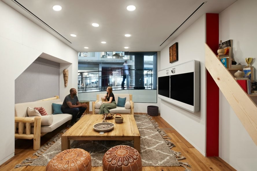 WRNS architects, airbnb office san francisco, 999 Brannan street, airbnb office design, office design, san francisco office design, san franciso architecture, interior design, airbnb environments, international interior design, natural light,