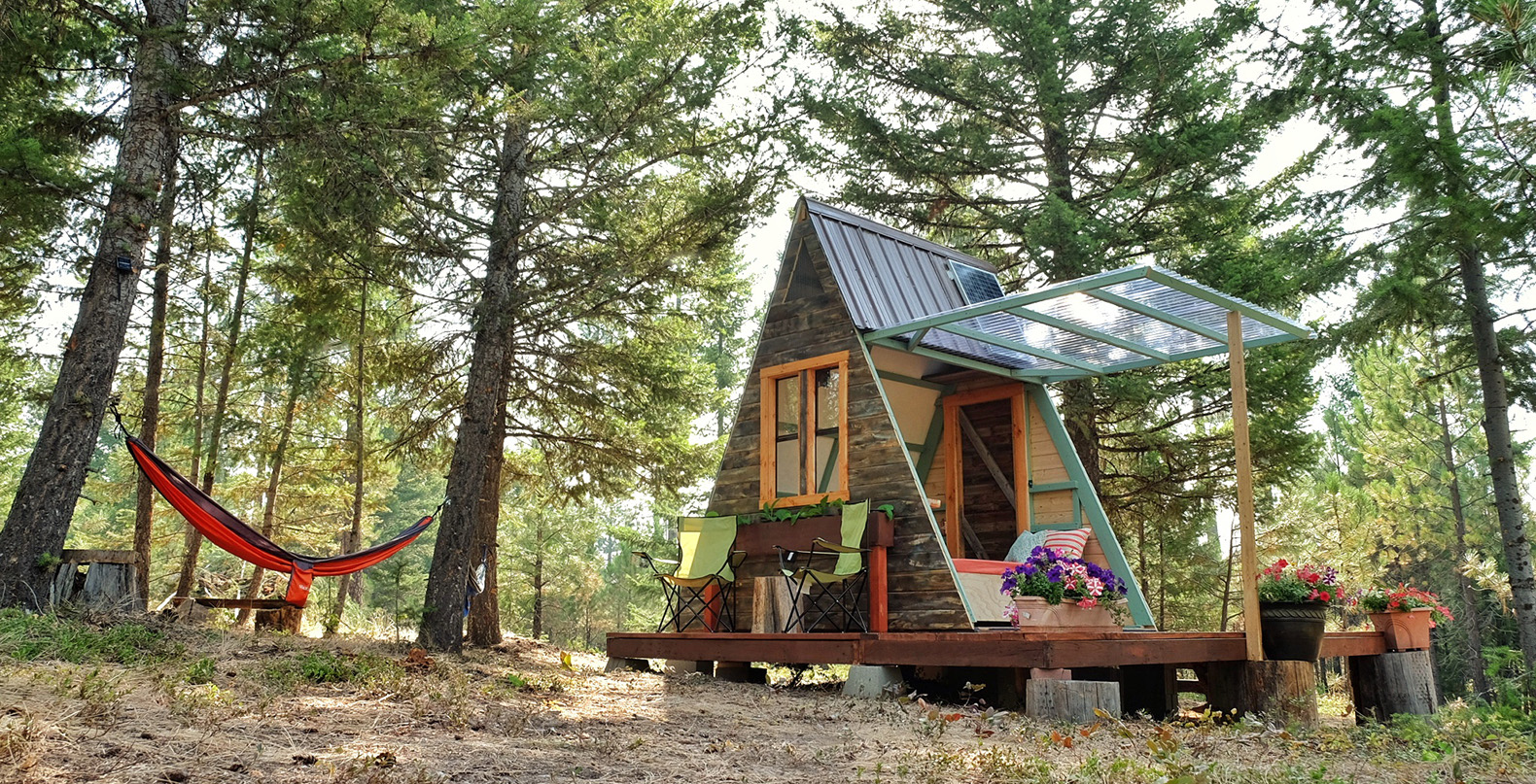 Couple builds tiny a frame cabin in three weeks for only for How to build an a frame home