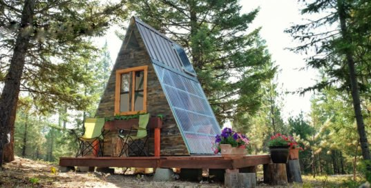 Free Small Cabin Plans Do It Yourself Cabin Plans Cabin: Couple Builds Tiny A-frame Cabin In Three Weeks For Only $700