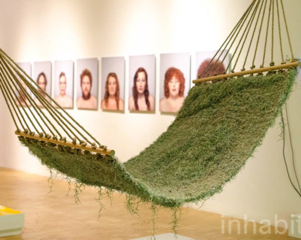 Naturalise, Ainhoa Garmendia, hammock, living furniture, soil-less plants, Spanish Moss, Tillandsia Usneoides, eco-fabric