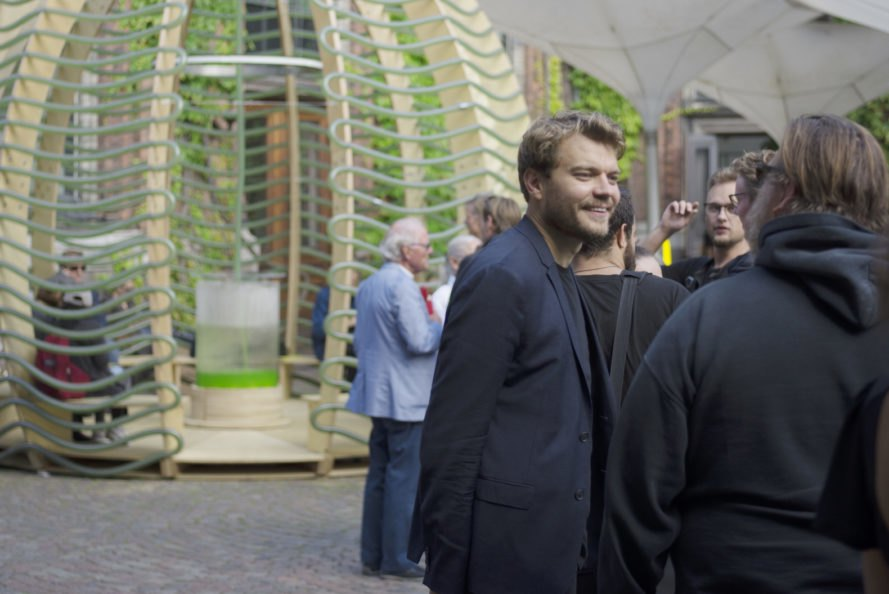 Algae Dome by SPACE10, Algae Dome CHART Art fair, Algae dome prototype, Algae dome Copenhagen, food architecture climate change, superfood food production, solar powered food production,
